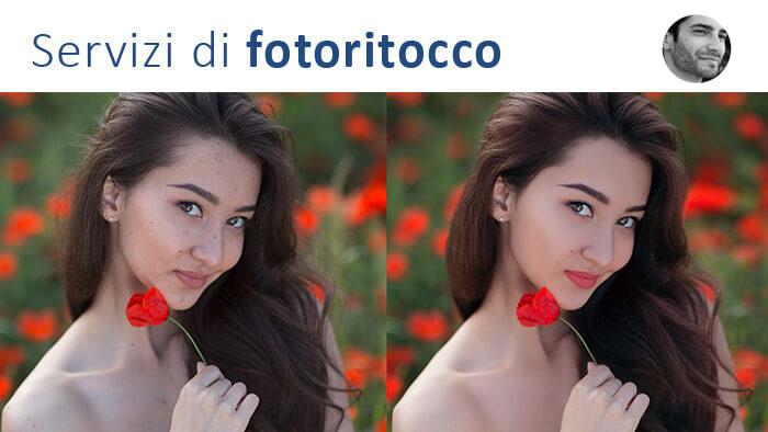 servizi di modifica dei ritratti fotografici