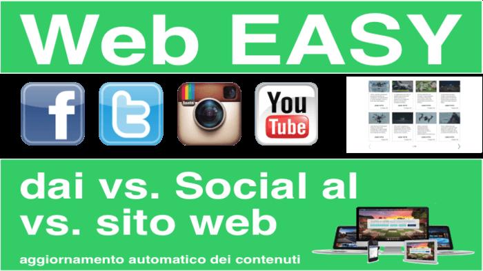 """Sito Web """"Easy"""", il vostro sito dai vs. Social."""